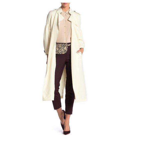 NWT Burberry Maythorne Silk Trench Coat